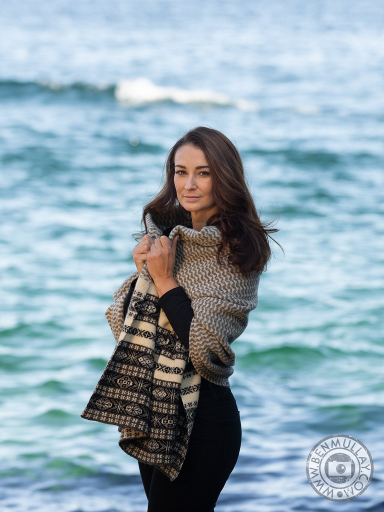 Shetland Knitwear with Fraser and model Leah Irvine