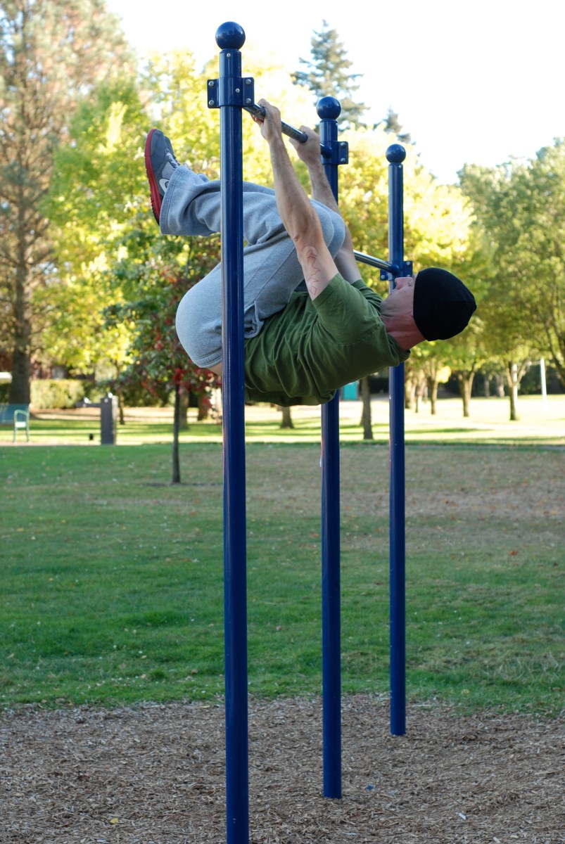 overcoming gravity - tuck front lever