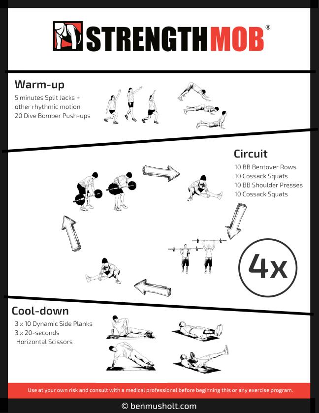 A lighter leg day workout