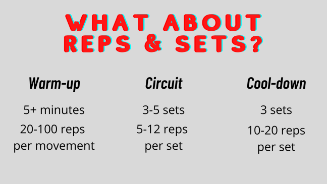 Exercise Reps and Sets