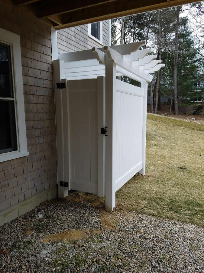 Cape Cod Shower Enclosures Bennett Fence And Arbor On