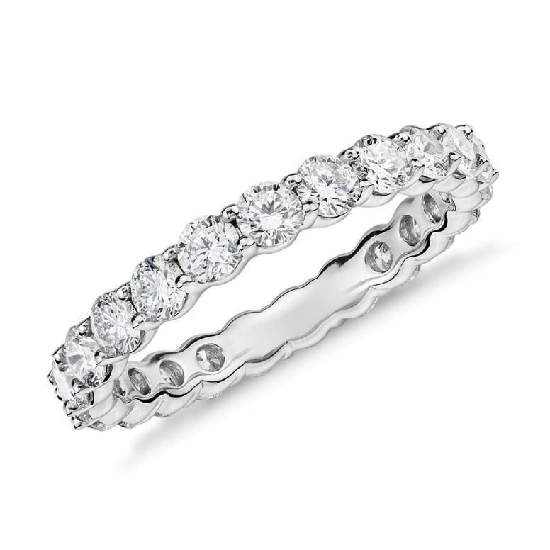 A diamond band from Bennion Jewlers is a great addition to any bridal jewelry