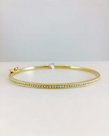 yellow gold - diamond bangle