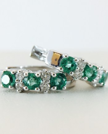 Bennion Jewelers - Huggy emerald and diamond