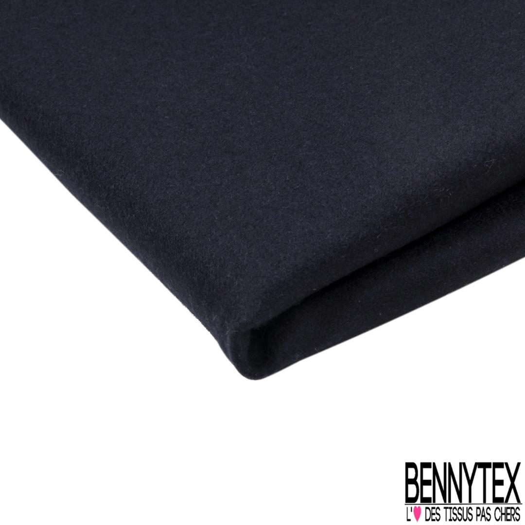 laine caban elastane couleur bleu marine