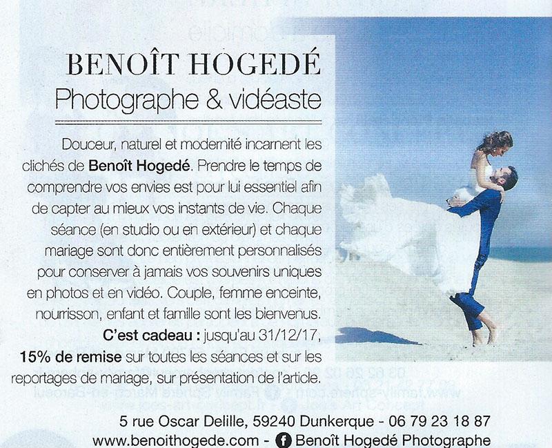 Distinctions magazine Elle Benoît Hogedé Images
