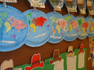 paper plate globes