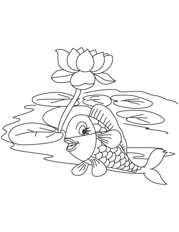 Garden Pond Coloring Pages