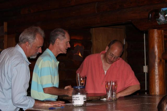 Ben, Mike and Josh at the Sign Up Sheet.