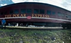 Ben Rounds plays holiday tunes at Polar Express