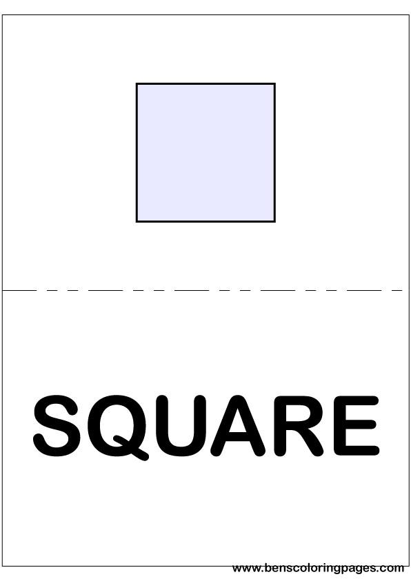 Shapes In English Large Flashcards