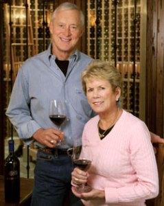 Pack and his wife Jill enjoy their Cobalt wine