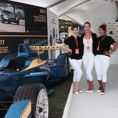 Benson's Agency with Renault at Goodwood Festival of Speed