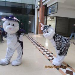 Costume Characters dancing bunnies