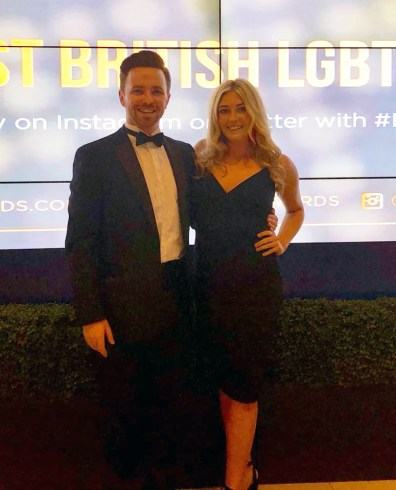 Host and Hostess providing meet and greet at the LGBTQ Awards London 2018