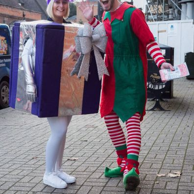 Christmas entertainment costumed characters