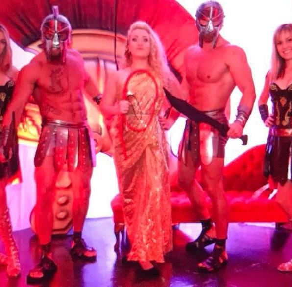 Gladiator character models private event entertainment