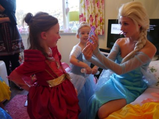 Princess Elsa appearance at Frozen Party
