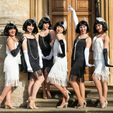 Flapper girls group pose