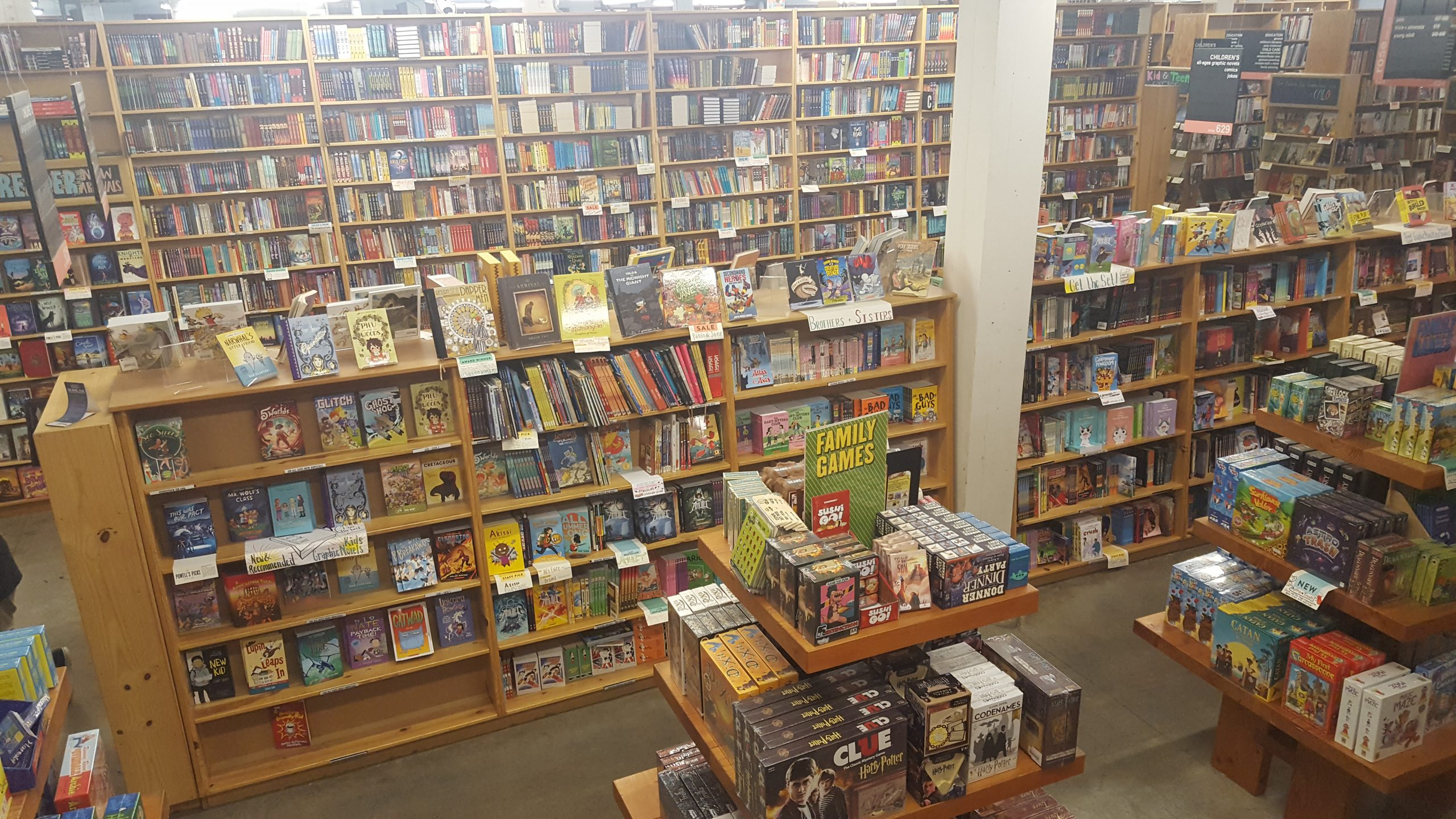 Powell's City of books. Except it's a picture of the board game section