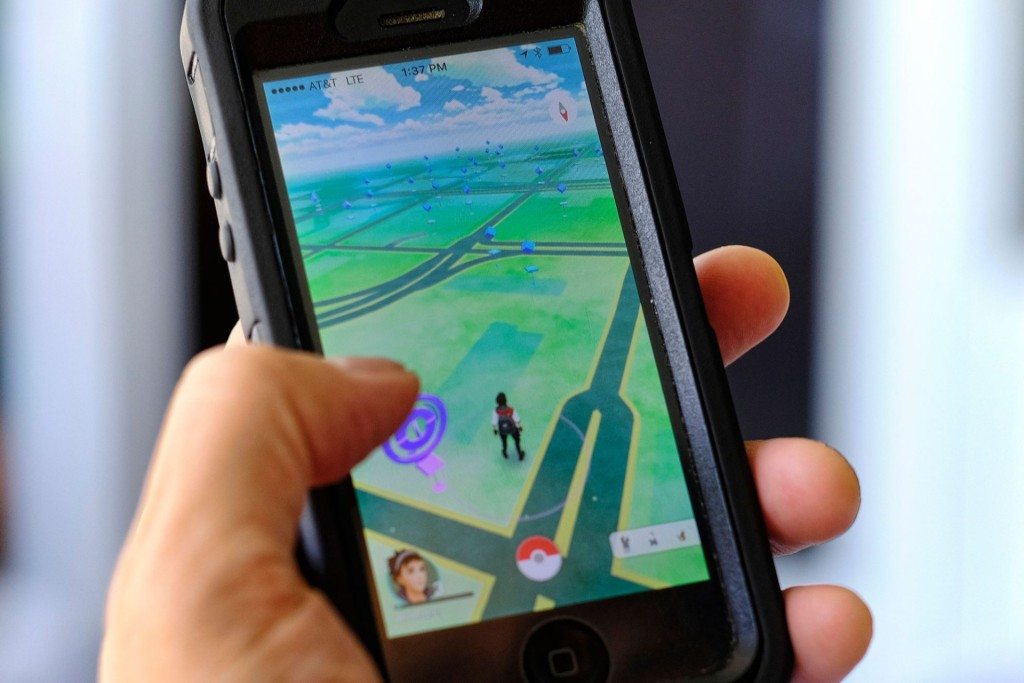 Pokemon Go is displayed on an iPhone. Photo: AP