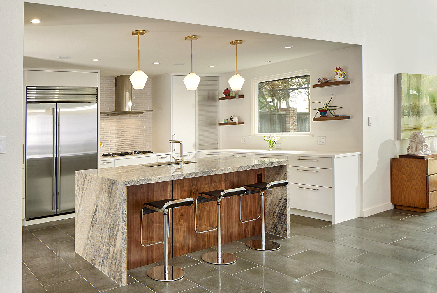 Maintaining Mid-Century Modern Vibes in Complete Remodel ... on Kitchen Remodel Modern  id=88214