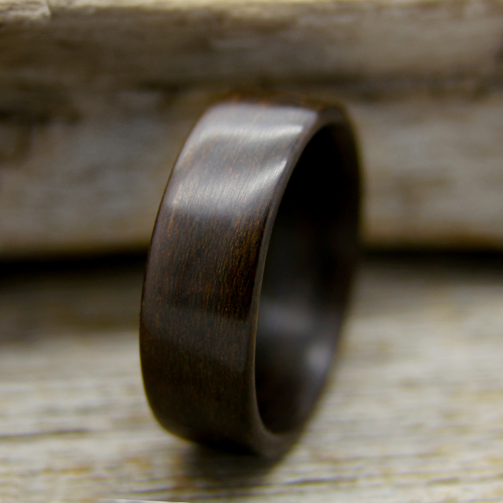 Ziricote bentwood ring