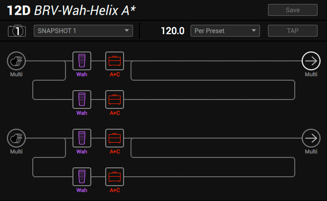 Line 6 Helix parallel wah method 4