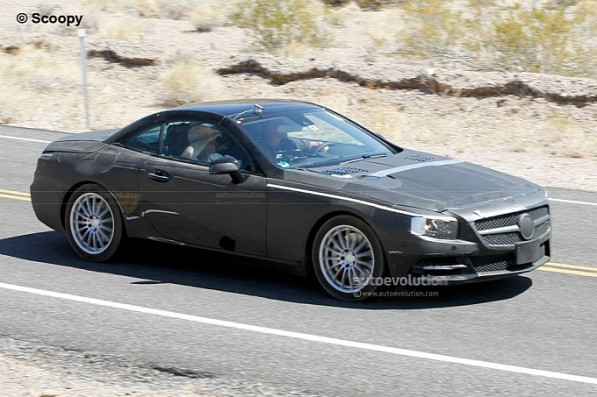 spyshots 2012 mercedes sl shows more skin medium 2 597x397 2012 SL Spy Shots Reveal More Skin