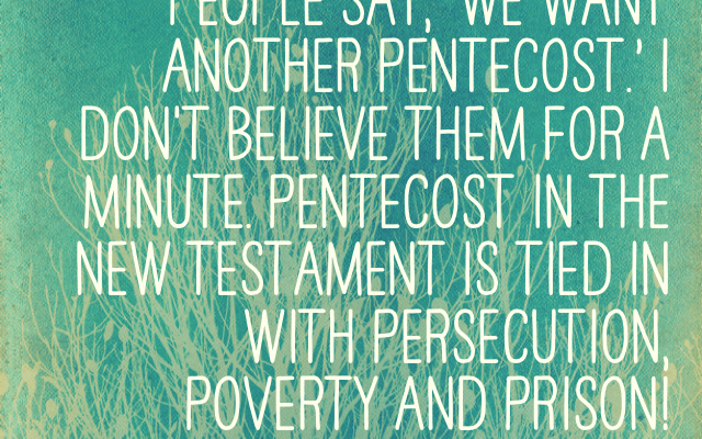 Pentecost, For Real