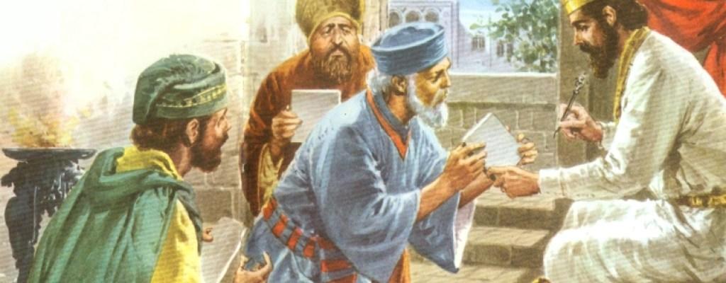 Praying to Darius