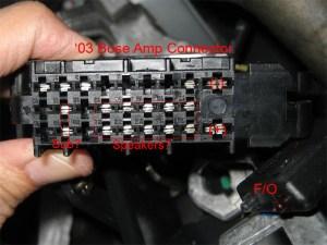 '03 Bose Amp connector pin assignment  MercedesBenz Forum