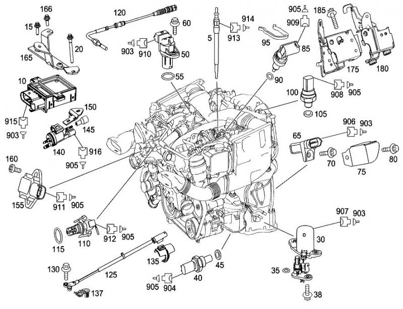 Mercedes E350 Engine Parts Diagram
