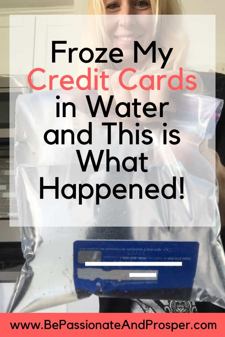 Froze my credit cards in water and this is what happened