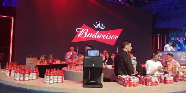coffee latte printer in Budweiser show