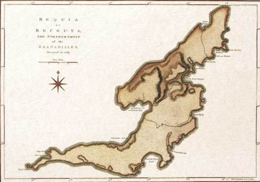 Bequia Map 1763