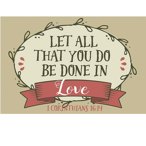 Download (Pkg. 25) Let All You Do Be Done in Love - Message Cards ...