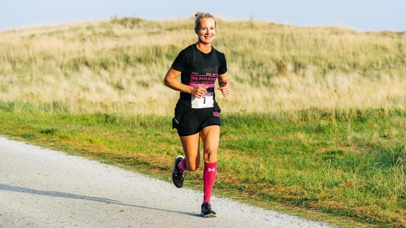 Ylona Kruis op de Longway tijdens de hele marathon van de Berenloop 2018.