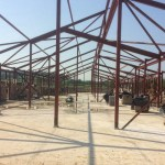 Bere_Regis_Primary_School_construction_photograph_May_2016_steel_frame_construction
