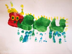 Hungry Caterpillar - Hand-printing