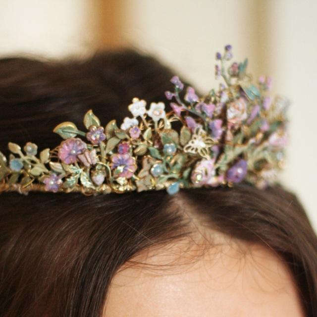 Country Garden Tiara Bridal Hair Band