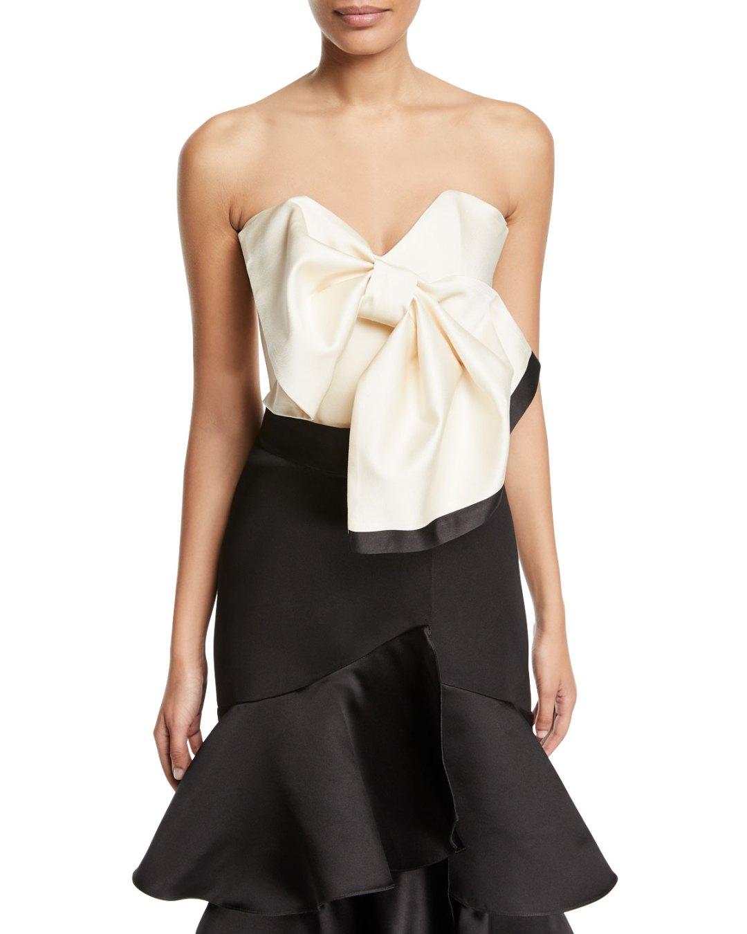 c1986ef5d1dcb JOHANNA ORTIZ – Las Meninas Strapless Satin Top – Bergdorf Goodman (Neiman  Marcus) –  1