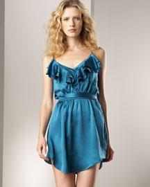 T1YY6 Rebecca Taylor Satin Olivia Dress