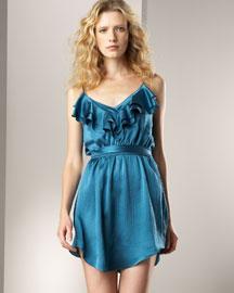 T1YY6 Rebecca Taylor Satin Olivia Dress