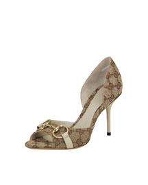 X01W1 Gucci Hollywood Mid-Heel Sandal