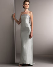 T0QXF Beaded Strapless Gown 960.00
