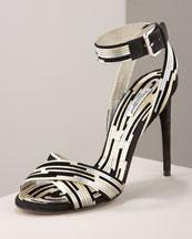 X0AH7 Dolce & Gabbana Ankle-Wrap Sandal