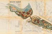 Plan over Bergensparken. Arkitekt Simon Henningsen, København. Fremlagt i byplanrådets møte 19.12.1969 og 13.02 1970.