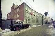 Kavlifabrikken i Damsgårdsveien 59, etter utbyggingen. Foto: Universitetets Billedsamlinger. Fotograf: Norvin Reklamefoto, 1950-tallet.