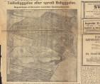 «Tætbebyggelse eller spredt Bebyggelse». Intervju med reguleringssjef Sverre Madsen. Avisutklipp fra Bergens Tidende 9.august 1919.